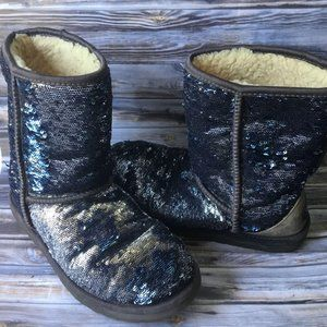 UGG Classic Short Sparkles  Midnight Multi Boots